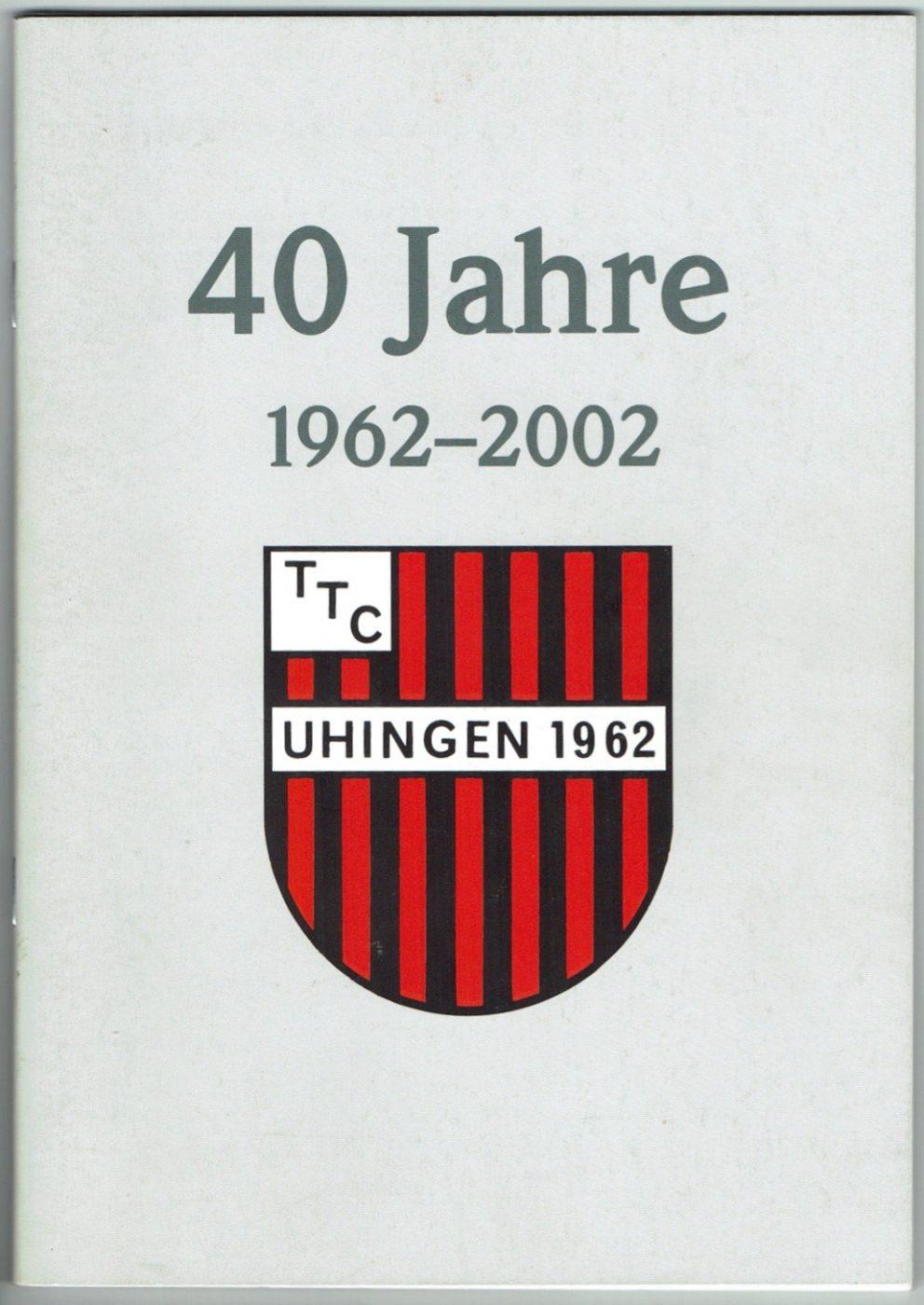 2002: Veröffentlichung der Festschrift zum 40 jährigen Jubiläum