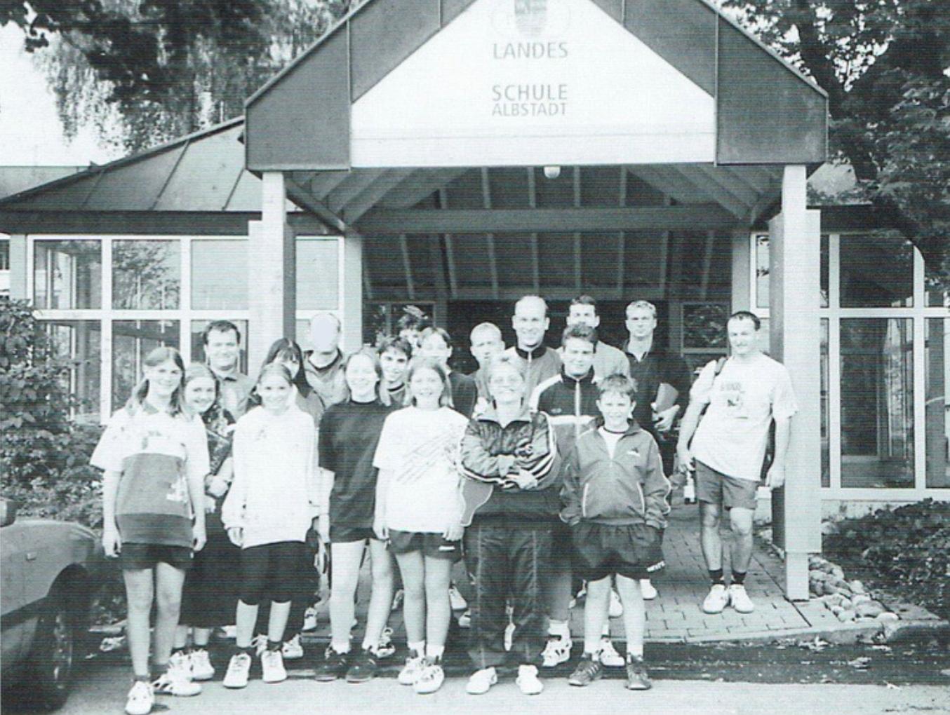 1998: Erster Besuch der Sportschule Tailfingen